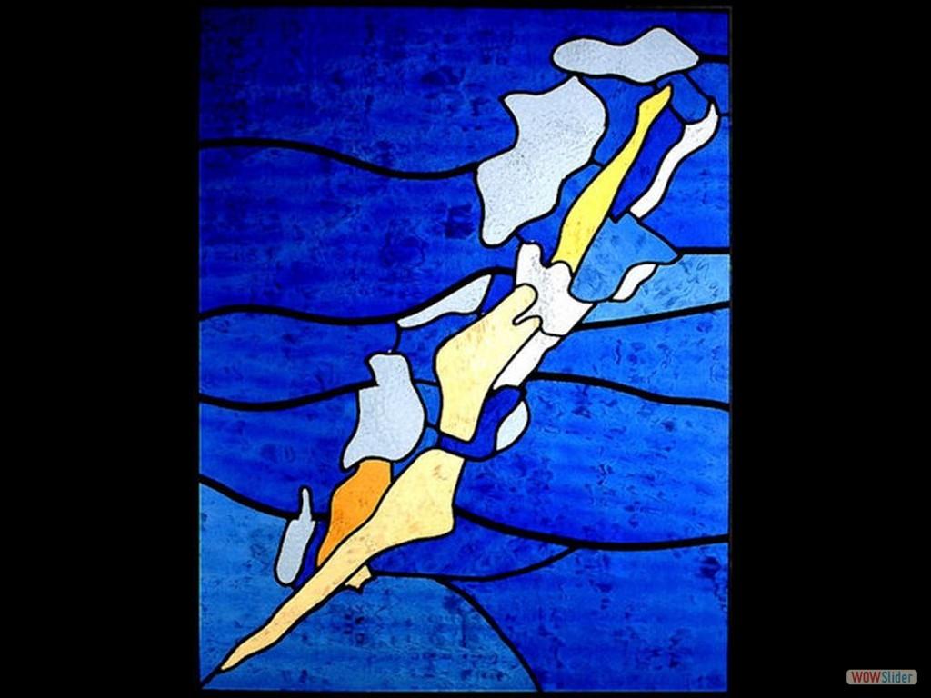 Zwemster in blauw (Kopie)