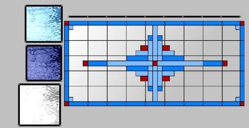 rechtverdeling in blauwtinten